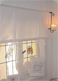 Gardine RaffRollo weiß 80/100/120/140/160 Landhaus *Shabby Chic* Vintage Retro | eBay