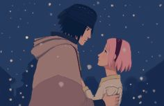 Aaaah and all the fangirls expected Sasukr and Naruto to end up together. Well sorry fangirls... He's with Sakura