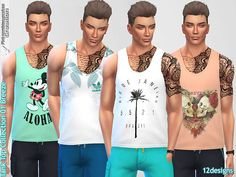 Available in 12 designs Found in TSR Category 'Sims 4 Male Everyday'