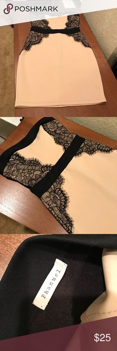 Strapless Dress with lace Strapless, lace detail, zipper in the back Phanuel Dresses Strapless