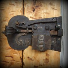 Custom Forged Lock Blacksmith Made Door Lock and Key Hand Forged Crab Lock…