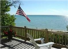 Harbor+Springs+Good+Hart+Lake+Michigan+Cabin+on+Sandy+Beach+++Vacation Rental in Northern Michigan from @homeaway! #vacation #rental #travel #homeaway