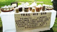 Trail Mix Bar... super cute healthy favor for a camping party or movie snack