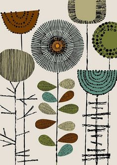 How this reminds me of the formica kitchen cupboard my mother stored her flours in. #pattern, #retro, #hues