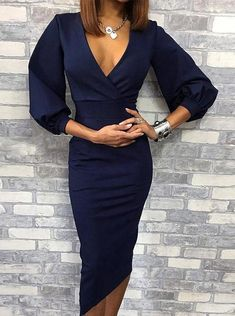 Sexy Party Dress, Sexy Dresses, Evening Dresses, Amazing Dresses, Dresses Dresses, Elegant Dresses, Beautiful Dresses, Robes Midi, Midi Dress With Sleeves