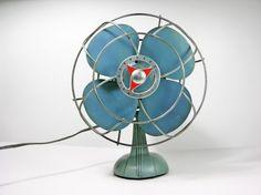 Blue vintage fan - my colors!