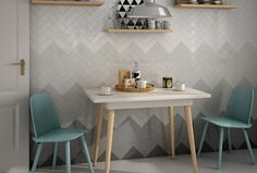 I love this grading of the colour and style for 30x10 tiles - get this feature-wall look for only approx £200!