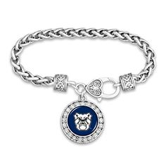 The perfect crystal bracelet for true Trump supporters! Product details: SIlver-Plated Bracelet made of brass Silver-Plated Charm with Crystal border Made from tarnish-free metal Lobster claw heart-shaped clasp Proudly crafted in the USA! Braided Bracelets, Diamond Bracelets, Crystal Bracelets, Jewelry Bracelets, Jewellery, Butler Bulldogs, Braided Hairstyles Updo, Updo Hairstyle, Prom Hairstyles