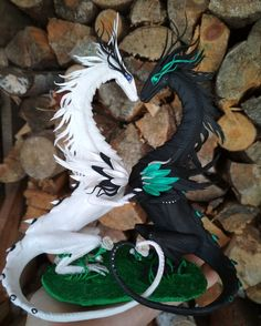 MAKE TO ORDER! Double dragons figurines Wedding dragons statuette Wedding cake topper Dragons with hearts Polymer clay wedding art MAKE TO ORDER! Double dragons figurines Wedding dragons statuette Wedding cake topper Dragons with h<br> Dragon Wedding Cake, Gothic Wedding Cake, Wedding Art, Wedding Themes, Dream Wedding, Wedding Decorations, Wedding Ideas, Wedding Cake Toppers, Wedding Cakes