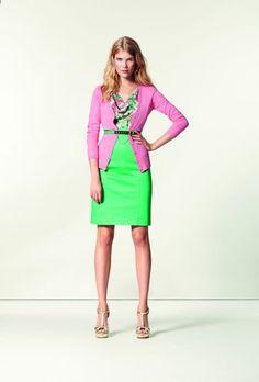 #Orsay - kolekcja wiosna-lato 2013, sweter - 59,95zł, sukienka - 139,95zł