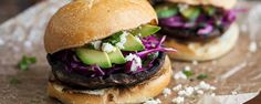 Grilled Portobello Chili Burger with Simple Slaw | Frontier Grilling