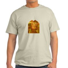 Lion Head Front Low Polygon T-Shirt