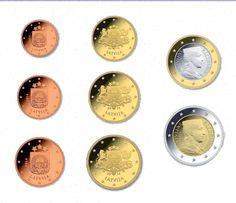 Gli euro di Lettonia.