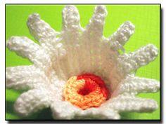 CROCHET PATTERNS (Irish Flower Crochet Pattern #116 Daisy) -Crochet & Knit Design Heaven