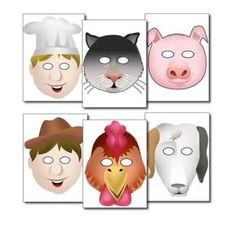 'The Little Red Hen' Role Play Masks