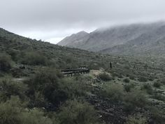 South Mountain (Phoenix) on a rainy February day.
