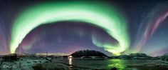 Northern Lights panoramic.  I also made a calendar, here: http://www.redbubble.com/people/roamer/calendars/12981095-calendar-2015-northern-lights?c=333944-calendars