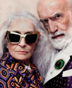 Daphne Selfe and friend