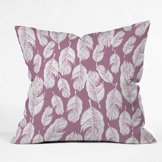 Rachael Taylor Feather Fun Throw Pillow | DENY Designs Home Accessories