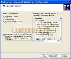 Copiar configuración y archivos de un equipo a otro. http://www.configurarequipos.com/doc590.html