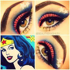 Wonder Woman Inspired Makeup!