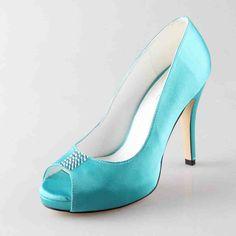 Aqua Blue Wedding Shoes - Wedding and Bridal Inspiration Blue Wedding Shoes, Aqua Blue, Wedding Stuff, Stiletto Heels, Ocean, Pumps, Sky, Bridal, Inspiration