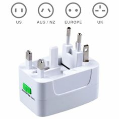 MAXAH® Surge Protector All in One Universal Worldwide Travel Wall Charger AC Power AU UK US EU Plug Adapter Adaptor.