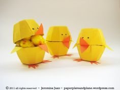 Chicks made from egg cartons