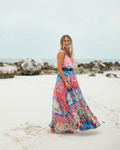Colorful maxi dress | Janni Delér