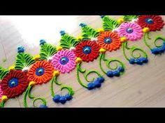 How to make easy and simple/unique border rangoli designs by Jyoti Rathod,rangoli,festival rangoli d Rangoli Designs Flower, Rangoli Border Designs, Colorful Rangoli Designs, Rangoli Designs Diwali, Rangoli Designs Images, Diwali Rangoli, Beautiful Rangoli Designs, Flower Designs, Rangoli Borders