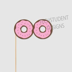 Donut Glasses Photo Booth Props Candy Photo Booth by PaperGala