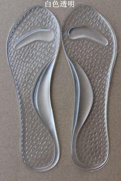 Ayakkabı Tabanlık 1 Çift Jel topuk ekle 3/4 Lady Ayakkabı Pad Ile Kaymaz Arch Destek Ve Yastık Ortez Ayak Bakımı yıkanabilir