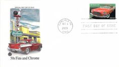 2008 1957 Chrysler 300C Hand Colored PCS First Day Cover
