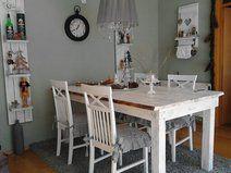 Esstisch, Bauerntisch,4 Stühle shabby chicLandhaus