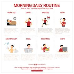 [Infographic] How to start your morning off the right way!