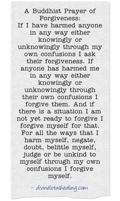 Buddhism •~• Buddhist Prayer of Forgiveness