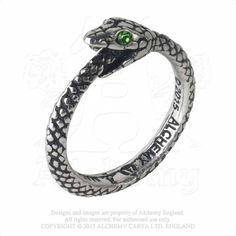 The Sophia Serpent From ancient Greek philosophy, the Ouroboros, a snake-serpent eating its own tail, is the Gnostic symbol of eternity, rebirth and the unity of everything, representing both the sun and soul of the world. A pewter Ouroboros ring of a serpent swallowing its own tail, and with Swarovski crystal-set eyes.
