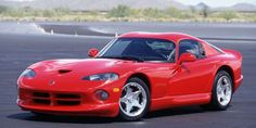 In order to compete with all the Europeans (and to maintain that there is no replacement for displacement), Dodge unleashed the Viper, which sported an unheard-of-ly huge 8.0 liter V10. It made 450 bhp and topped out at 180 mph.   - RoadandTrack.com