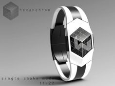 Hexahedron Watch Features Unique 3D Snake Illustration to Tell Time