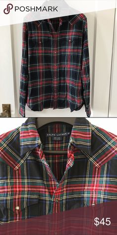 Ralph Lauren plaid shirt This Ralph Lauren collection plaid shirt is a classic that never goes out of style. It has only been worn a few times and is in great condition. Ralph Lauren Tops Button Down Shirts