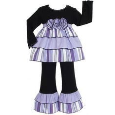 AnnLoren Boutique Girls Purple 2-piece Rumba Outfit | Overstock.com Shopping - The Best Deals on Girls' Sets