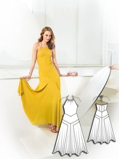Tie Neck Maxi Dress 07/2015 #105B http://www.burdastyle.com/pattern_store/patterns/tie-neck-maxi-dress-072015?utm_source=burdastyle.com&utm_medium=referral&utm_campaign=bs-tta-bl-150713-ArtGalleryCollection105B