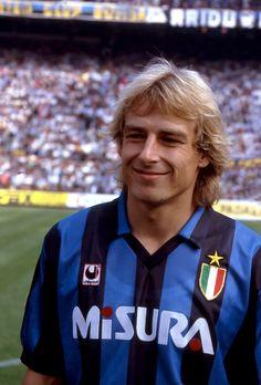 Klinsmann, fardamento fantástico da Inter de Milão dos anos 1990.