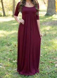 Mommy to Be Maternity Photo Prop Floor Length Maxi Dress / Gown Closed Front Maroon / Eggplant Pregnancy Portrait Women's Baby Shower Dresses Maternity Clothes Clothing Womens