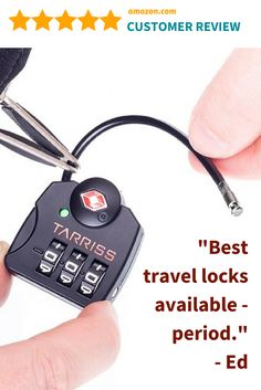 Tarriss TSA Lock with SearchAlert - 100% SATISFACTION GUARANTEED and backed by our LIFETIME WARRANTY! #travelgift #travelaccessory #travelsafety