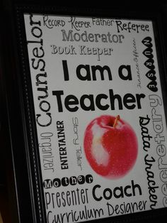 Education to the Core: I Am A Teacher! Free Printable For Home Or Work!