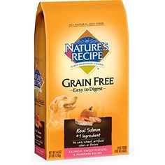 Nature's Recipe Grain Free Easy to Digest Salmon, Sweet Potato & Pumpkin Recipe Dry Dog Food, 4-Pound @@@ To check this awesome product by going to the link at the image. (This is an affiliate link and I receive a commission for the sales)