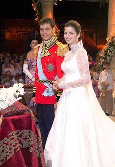 Luis Alfonso de Borbon y Martinez-Bordiu, duque de Anjou y Margarita Vargas
