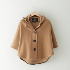 Fidelity Sportswear Cropped Wool Cape ($238) ❤ liked on Polyvore