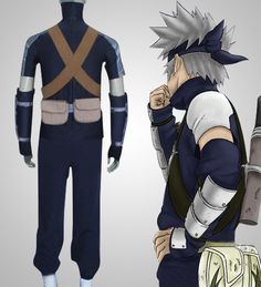Young Kakashi Naruto Cosplay Costume